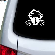 Crab Grabbing Decal For Car Window Stickany