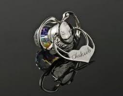 personalised silver dummy swarovski new