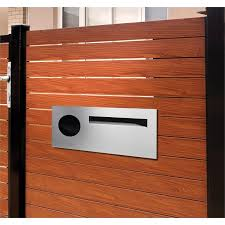 Find Sandleford Stainless Steel Fence Mounted Lombard Letterbox At Bunnings Warehouse Visit Your Local Store For The Wid Fence Styles Brick Fence Fence Design