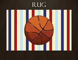 Basketball Rug Sports Area Rugs Kids Sports Rugs Navy Striped Rug Red Striped Rug Nursery Rugs For Boys Boy Boys Room Area Rugs Boys Room Rugs Sports Rug