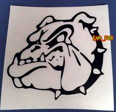 Live Fast English Bulldog Decal Vinyl Bumper Sticker Window Sticker Left British Bulldog