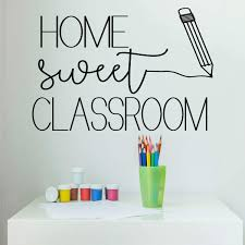 Classroom Decoration Home Sweet Vinyl Decor Wall Decal Customvinyldecor Com