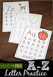 free a to z worksheets for kindergarten