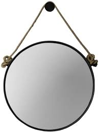 retro metal wall hanging mirror