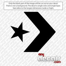 Car Decals Car Stickers Converse Shoes Logo Car Decal Anydecals Com