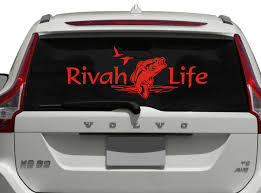 Rivah Life With Fish Vinyl Decal