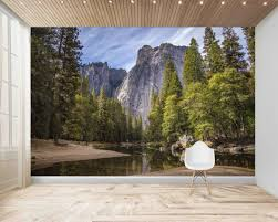 Yosemite Mural Wall Decal Mural Print Wall Covering Large Wall Mural Self Adhesive Vinyl Wallpaper Peel And Sti Large Wall Murals Large Wall Decals Wall Murals