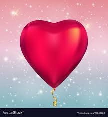 glossy helium balloons on vector image