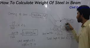 how to calculate steel weight in beam