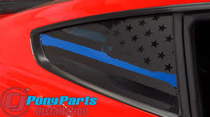 Anchor Room 15fm Qwsf A Quarter Window Decal Support Flag Matte Black Pair Mustang Fastback 2015 2020