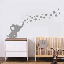 One Lovely Elephant Blowing Bubbles Wall Decal Vinyl Wall Sticker For Baby Room Decoration Wish