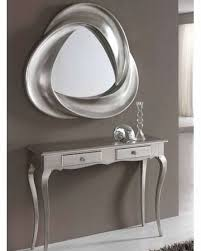 modern console table and mirror set in