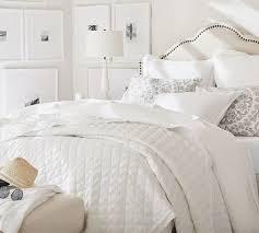 white belgian flax linen diamond quilt