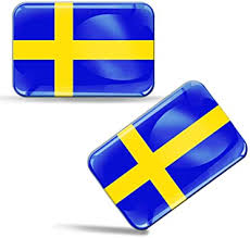 Amazon Com 2 X 3d Domed Silicone Stickers Decals Sweden National Swedish Flag Car Motorcycle Helmet F 47 Automotive