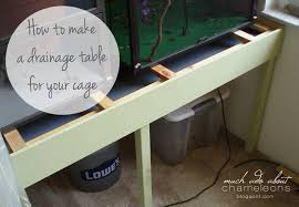 how to make a drainage table much ado