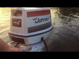 1977 johnson 25hp outboard motor you