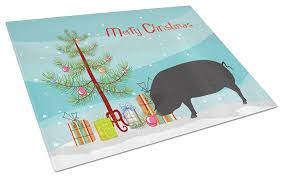 pig glass cutting board large