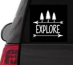 F119 Explore Campfire Tent Hiking Camp Decal Car Truck Laptop Surface Art Ebay