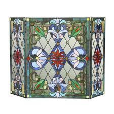anja single panel iron fireplace screen