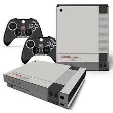 Xbox One X Console Skin Decal Sticker Old Nes Retro 2 Controller Custom Design 743031186847 Ebay
