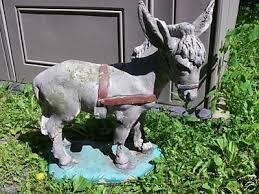 vintage donkey garden statue 1966 nice