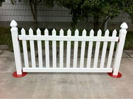 Pvc Free Standing Fencing Buy Free Standing Fencing Pvc Temporary Pvc Fence Temporary Fence Stands Concrete Product On Alibaba Com