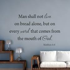 Vwaq Man Shall Not Live By Bread Alone Matthew 4 4 Bible Wall Decal