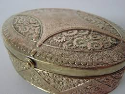 antique jewelry box 1900s at