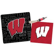 wisconsin badgers its a party gift set