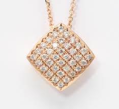 14k rose gold round pave setting