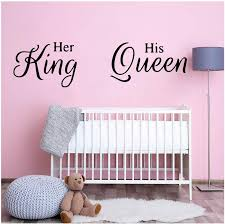 Quotes King And Queen Vinyl Wall Sticker Decor For Bedroom Decoration Art Decal Decorative Stickers Murals Wallstickers Wall Stickers For Children Wall Stickers For Girls From Onlinegame 15 02 Dhgate Com