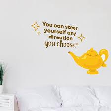 Design With Vinyl You Choose Genie Aladdin Life Cartoon Quotes Decors Wall Sticker Art Design Decal For Girls Boys Kids Room Home Decor Wall Art Vinyl 27x30 Inch Wayfair