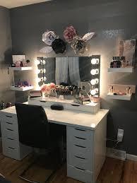 makeup vanity beauty room ikea alex