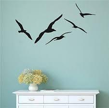 Amazon Com Seagulls Silhouette Vinyl Wall Decal Sticker Graphic Handmade