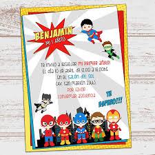 Kit Imprimible Cumpleanos Superheroes Bebes Nene Varon 390 00