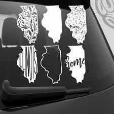 Illinois Vinyl Decal Illinois Car Decal Illinois State Car Etsy In 2020 Vinyl Decals Etsy Vinyl