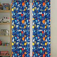Amazon Com Kids Boys Window Curtain Panels With Tiebacks 4 Piece Set Space Planets Rockets Rocketship Multicolor Boys Kids Print Window Curtain For Boys Kids Blue Green Teens Kids Room Decor Space Curtains