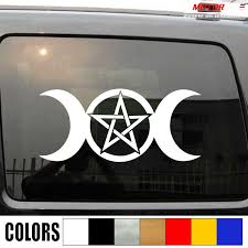Wicca Pagan Witch Triple Moon Decal Sticker Car Vinyl Pick Size Color No Bkgrd Car Stickers Aliexpress