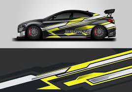 Premium Vector Car Decal Wrap Design