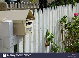 Mail Box On A Fence High Resolution Stock Photography And Images Alamy