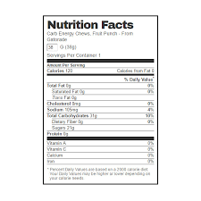 gatorade carb fruit punch energy chews