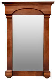 betty wood framed rectangle wall mirror