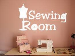 Sewing Room Wall Decal Trading Phrases