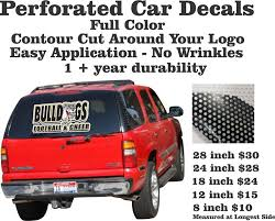 Perforated Car Window Decals Perforated Window Clings Tagsports