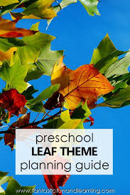 pre fall leaf theme activities