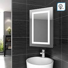 elegant illuminated bathroom corner