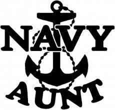 Navy Aunt Car Or Truck Window Decal Sticker Rad Dezigns