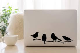 Amazon Com Littledollz Birds On A Branch Laptop Decal Laptop Stickers Laptop Sticker Bird Decals Bird Stickers 21 Inch Tall Home Kitchen