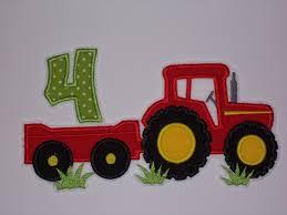 Xl Cumpleanos Tractor Con Aplicacion De Remolque Etsy