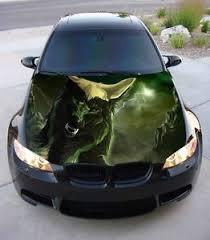 Vinyl Car Hood Wrap Full Color Graphics Decal Predator Wolf Muzzle Moon Sticker Ebay